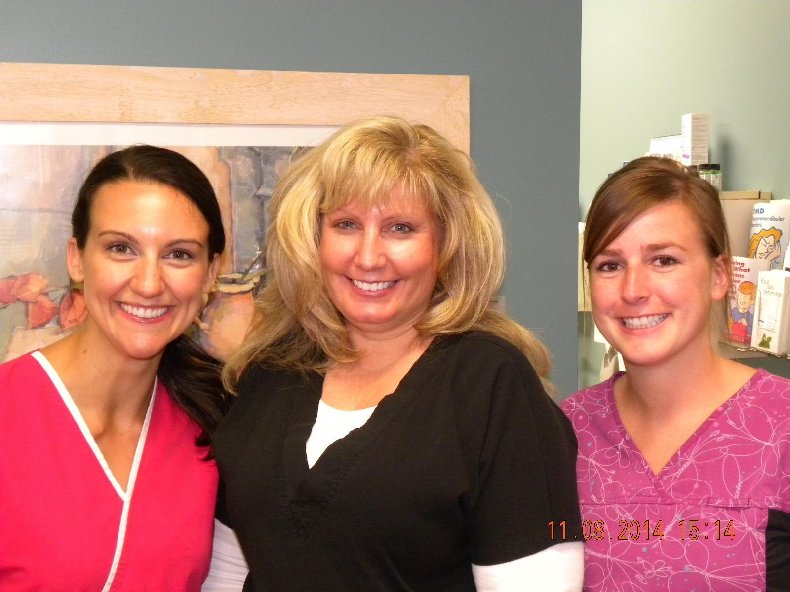 Julie (Registered Dental Hygienist), Jennifer (Certified Dental Assistant) Brooke ( Registered Dental Hygienist)